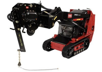 Vibratory Plow for Walk-Behind Skidsteer